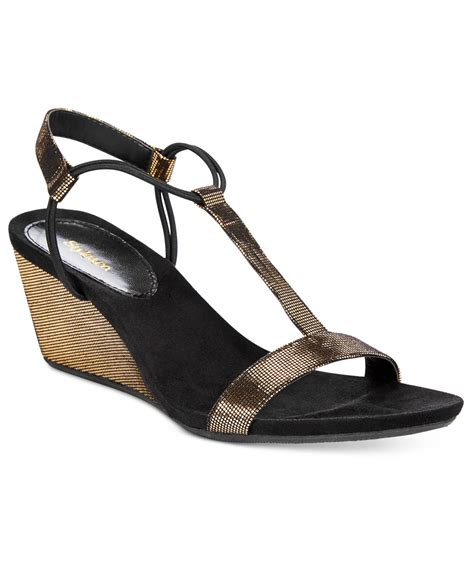 macys sandals style co mulan wedge sandals only at macy s in gold