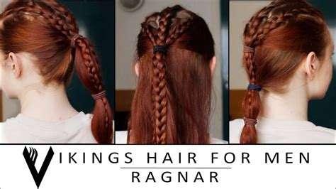 vikings hair tutorial  men ragnar lodbrok youtube