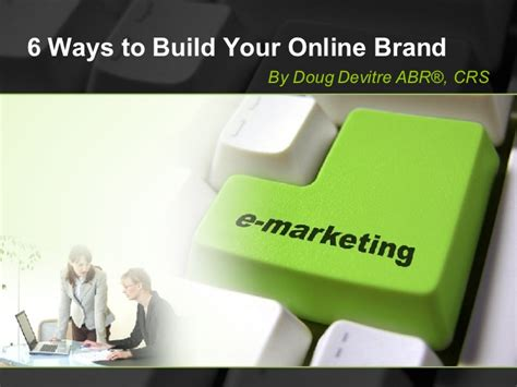 ppt 6 ways to go green at home and save money 6 ways to build your online brand3