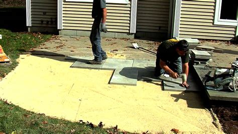 how to install a patio how to install a rivenstone yorkstone patio