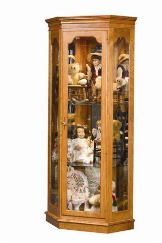 amish estate corner curio cabinet    antique