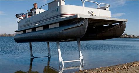 cool pontoons now that s how gadget should get his pontoon boat out of