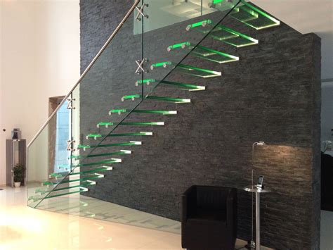 siller treppen all glass staircase with led glass and stainless steel