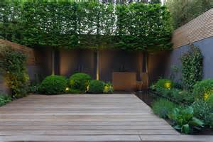 contemporary landscape with terrace garden design by john davies landscape home landscaping