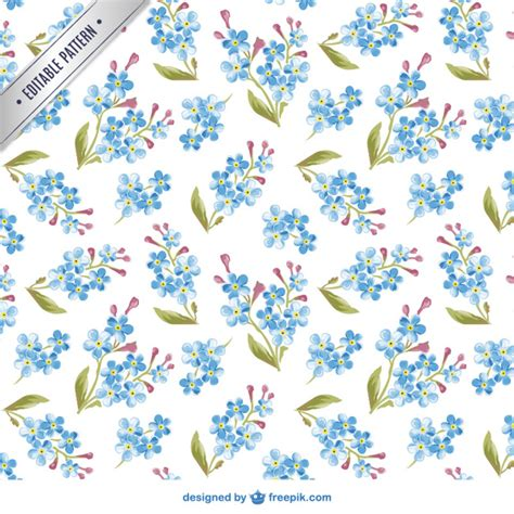 vector pattern free commercial use watercolor flowers pattern vector free download