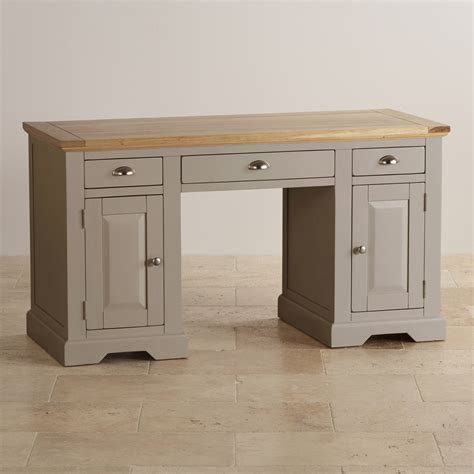 St Ives Computer Desk In Painted Acacia Oak Furniture Land White Painted Desk