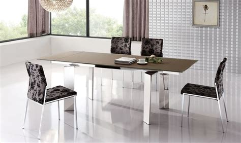 extendable dinner table and chairs modern design