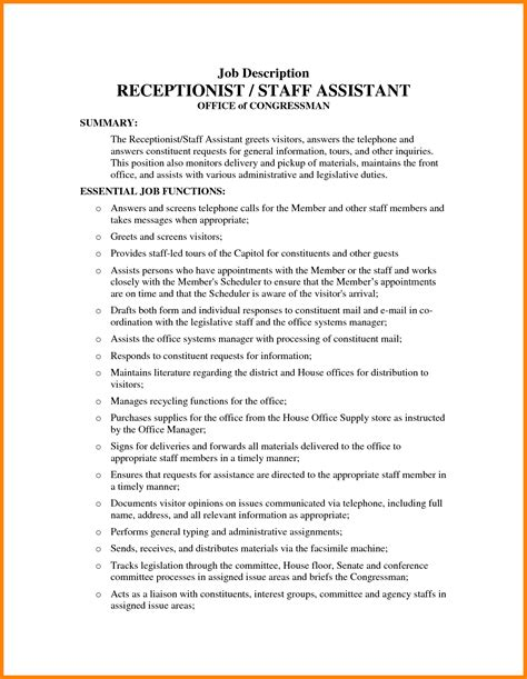 front desk receptionist job description for clinic front desk job best home design 2018