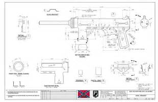 Home Blueprints For Sale M3a1 Submachine Gun Blueprint
