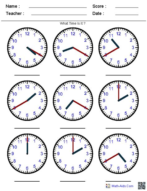 printable math sheets on time free coloring pages of telling time