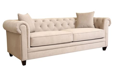 Gwen 86 Quot Tufted Velvet Sofa Beige Sofas From One Kings Lane Beige Tufted Sofa