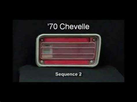 1970 chevelle tail lights 1970 chevelle led sequential tail lights by easy