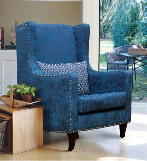velvet living room furniture velvet accent chairs living room blue wingback chair