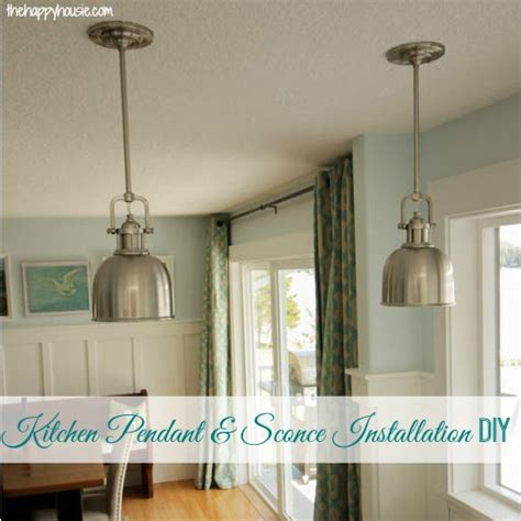 How To Install Kitchen Lighting How To Install Your Own Light Fixture The Happy Housie
