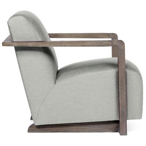grey fabric armchair ezra industrial loft grey fabric portobello wood armchair