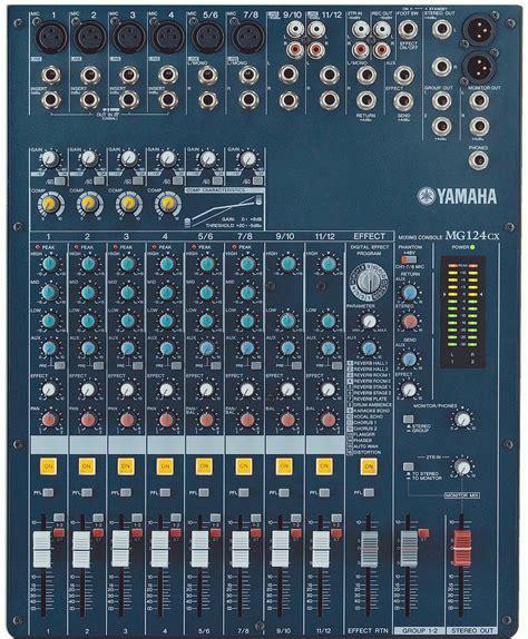 Audio Mixer Yamaha Mg124cx yamaha mg124cx 12 input stereo mixer with digital effects
