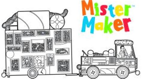 mister maker coloring page kidzone television new zealand entertainment tv one tv2