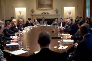 file president barack obama meets with members of his