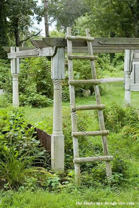 Wooden Ladder Garden Decor Use For Garden Decor I Like Ladders Pinterest