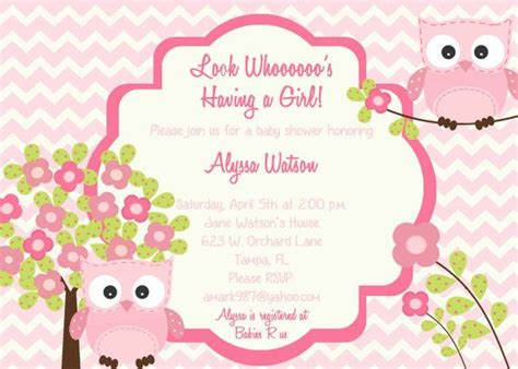 owl themed baby shower invitation template owl baby shower invitation custom chevron owl