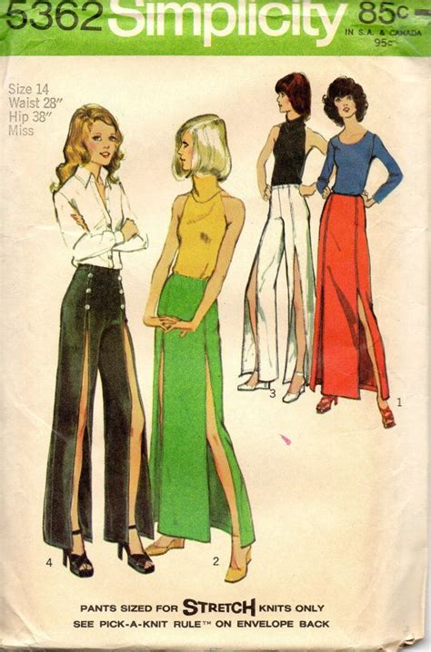 simplicity 5362 1970s misses stretch knit and maxi