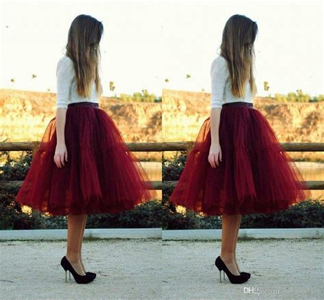 Maxi Lia Maroon best quality 5 layers burgundy skirts for knee
