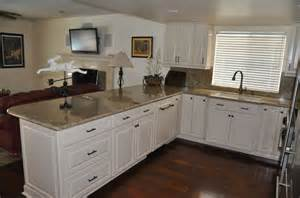 Biscotti Kitchen Cabinets Kraftmaid Biscotti Cabinets With Kashmir Gold Granite Dacor Range Kohler Cape Dory Sink And