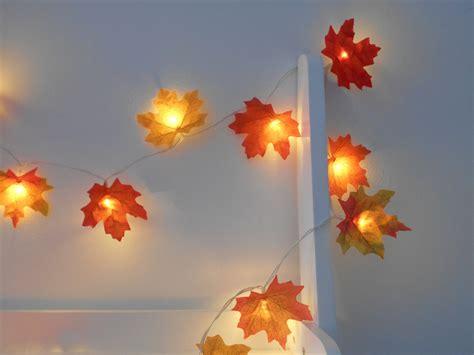 Autumn Fairy Lights String Lights Autumn Leaves Wedding Fall String Lights