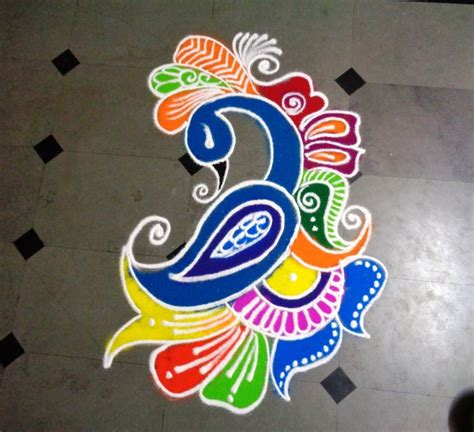poster design rangoli how to make beautiful peacock rangoli design youtube