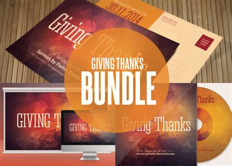 giving thanks church template bundle templates on