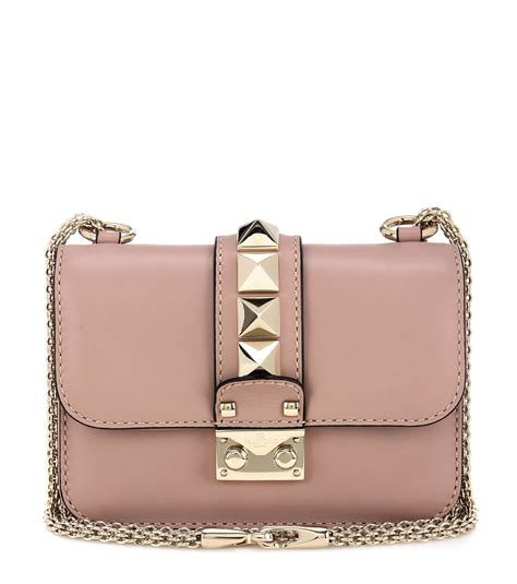 tas v entino mini bag valentino lock mini leather shoulder bag in lyst