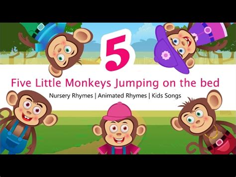 five little monkeys jumping on the bed song five little monkeys jumping on the bed nursery rhymes