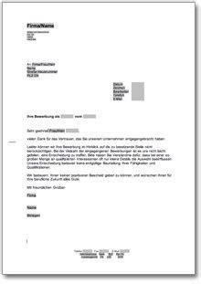 Musterbriefe Absage Bewerbung Absage Einer Bewerbung Um Einen Ausbildungsplatz At Musterbrief
