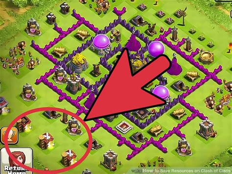 coc save layout 3 ways to save resources on clash of clans wikihow