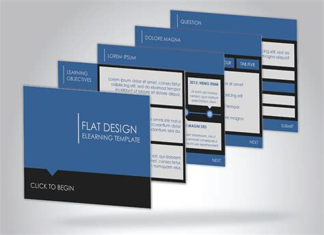 Flat Design Elearning Template Articulate Storyline Discussions E Learning Heroes Elearning Templates Storyline
