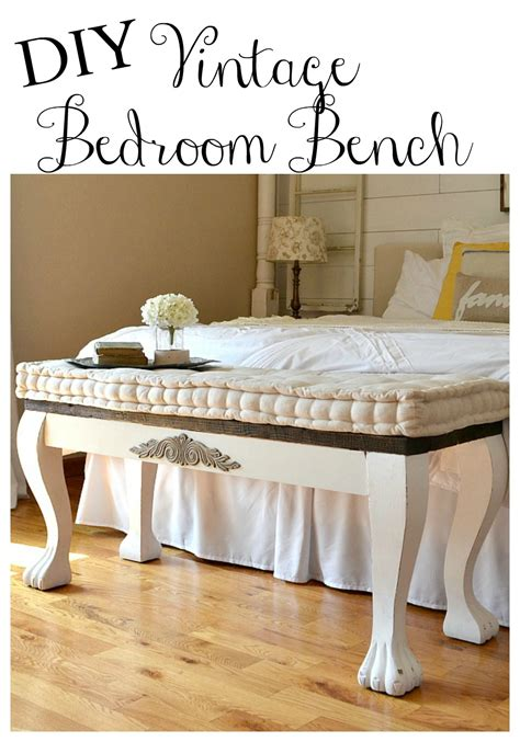 diy bedroom bench diy clawfoot bench little vintage nest
