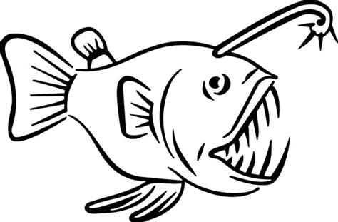 coloring pages of angler fish angler fish carnivore fish coloring pages angler fish