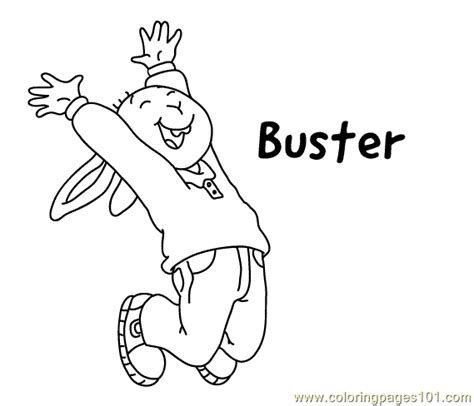 buster bunny coloring pages buster coloring2 coloring page free arthur coloring