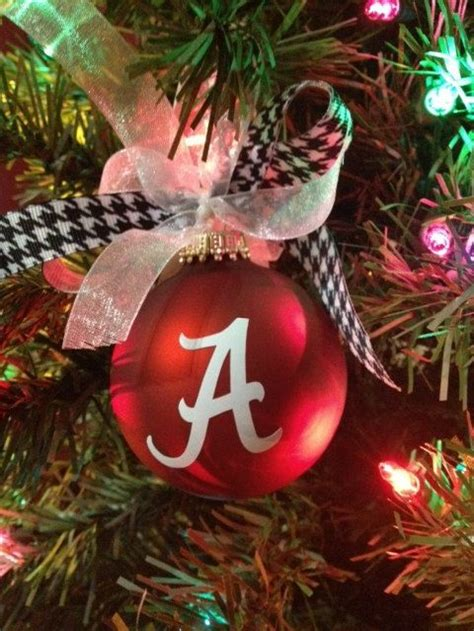 university of alabama christmas ornament personalized