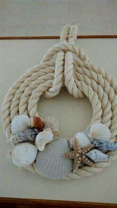 coastal decorating ideas  rope crafts