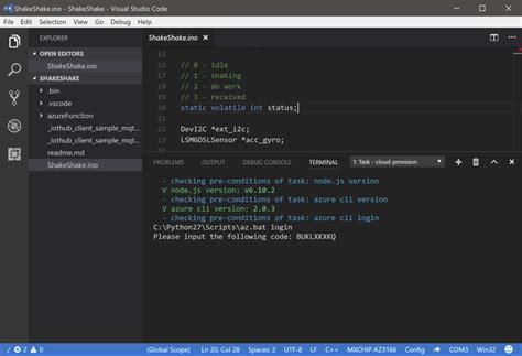 arduino code visual studio iot