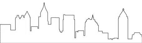 Skyline Outline by Atlanta Skyline Silhouette Clipart Clipartfest