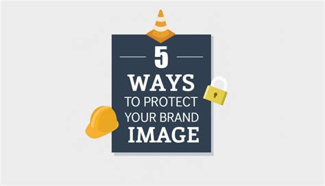 5 ways to protect your brand image infographic
