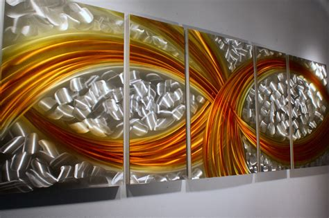 metal art home decor wilmos kovacs abstract painting on metal sculpture