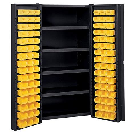 industrial storage cabinets with bins edsal manufacturing bc6202blk industrial bin storage