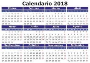Calendario 2018 Colombia Vectores De Stock De 2018 Espa 241 Ol Calendario