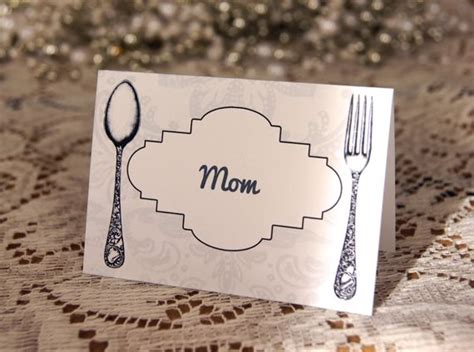 dinner table name cards place tent cards for dinner table printables freebies
