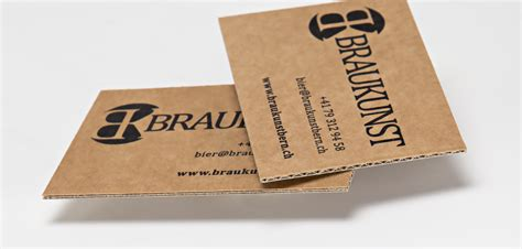 Visitenkarten Tipps by Visitenkarten Auf Brauner Mikrowellpappe Tipps Tricks