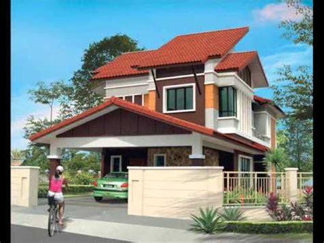 desain rumah tingkat 2 contoh pelan rumah banglo 2 tingkat youtube