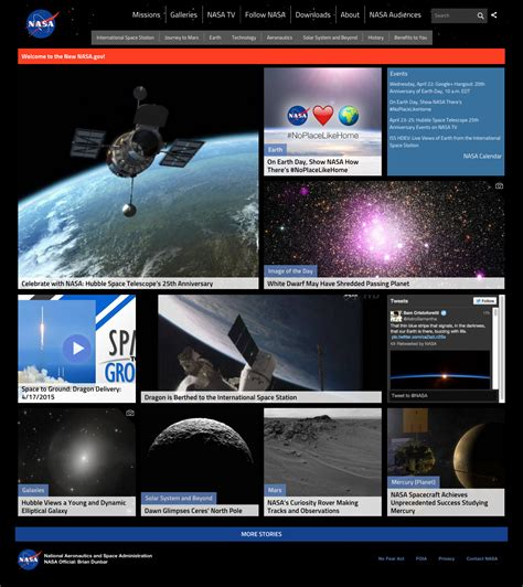 nasa design contest 2015 nasa home page design 2015 nasa